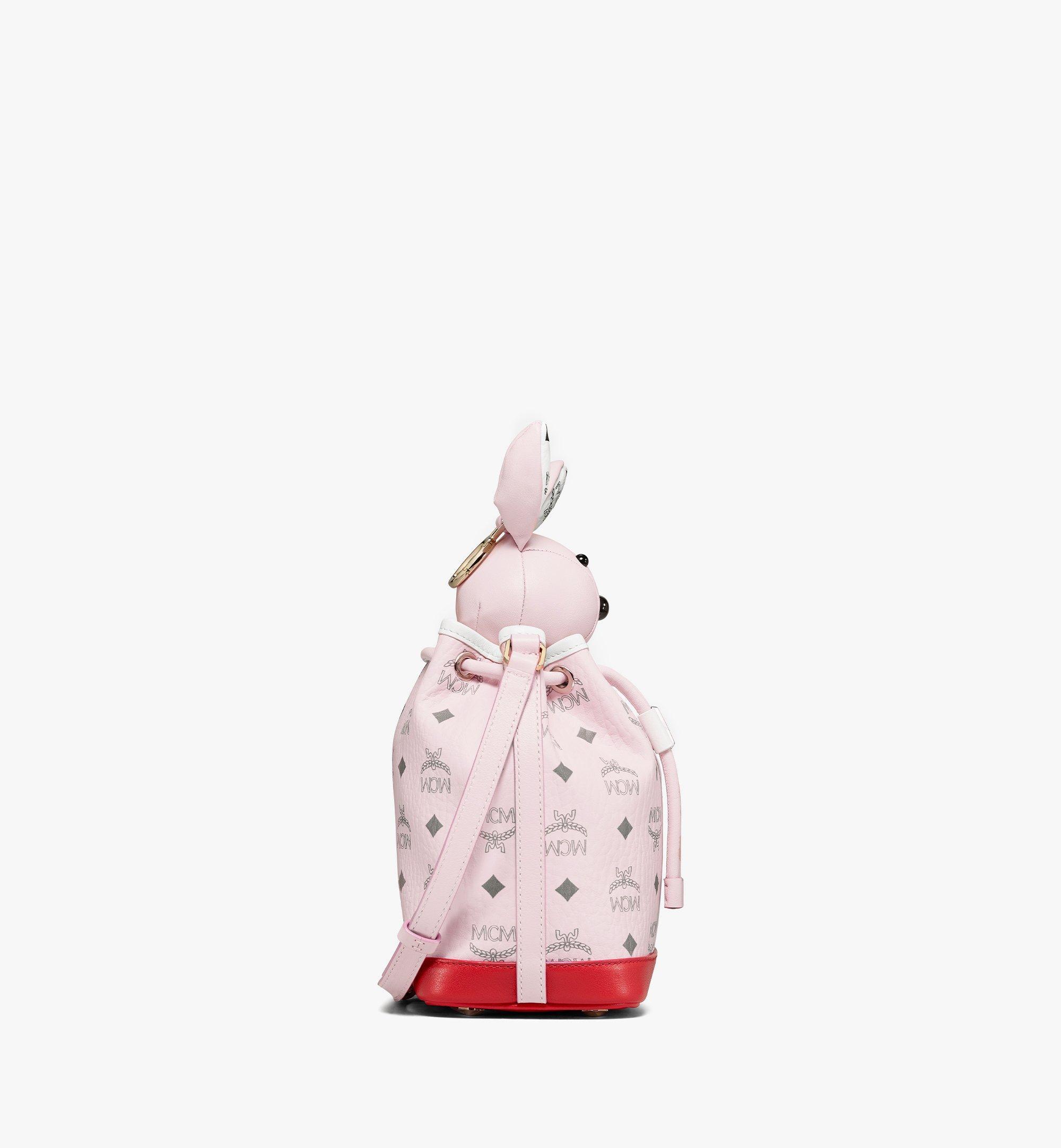 MCM Visetos 皮革混合 MCM Zoo Rabbit 束口包 Pink MWDBSXL01QH001 更多視圖 1