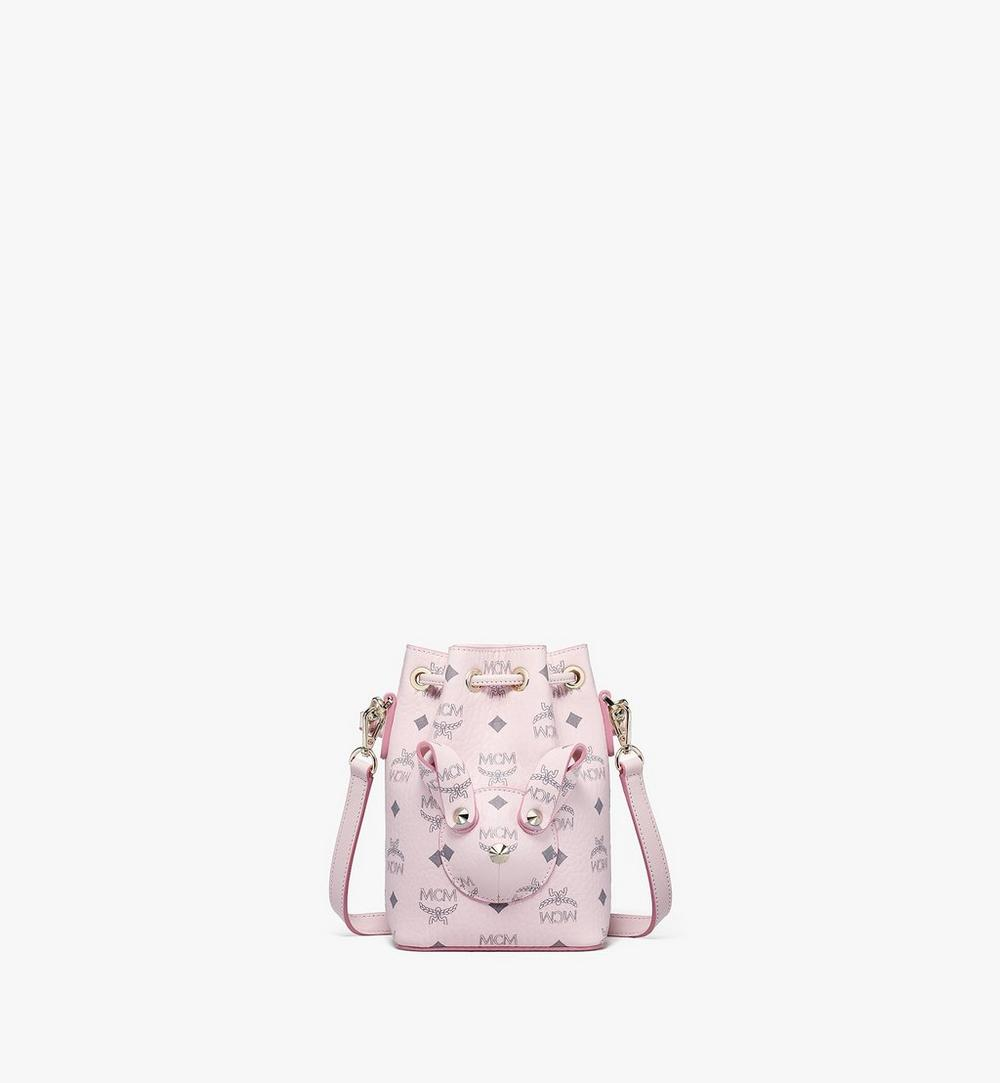 MCM Zoo Rabbit Bucket Bag in Visetos 1