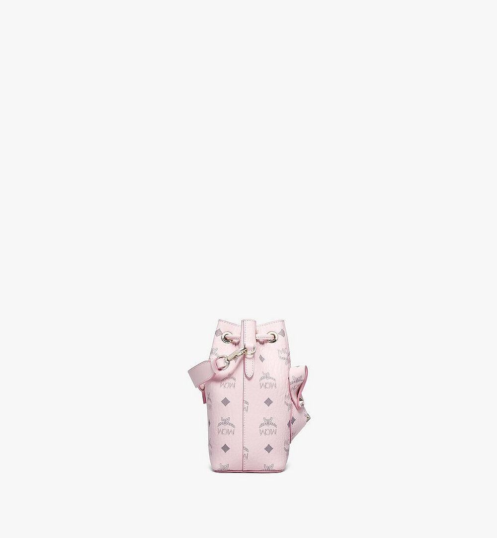 MCM MCM Zoo Rabbit Bucket Bag in Visetos Pink MWDBSXL02QH001 Alternate View 1