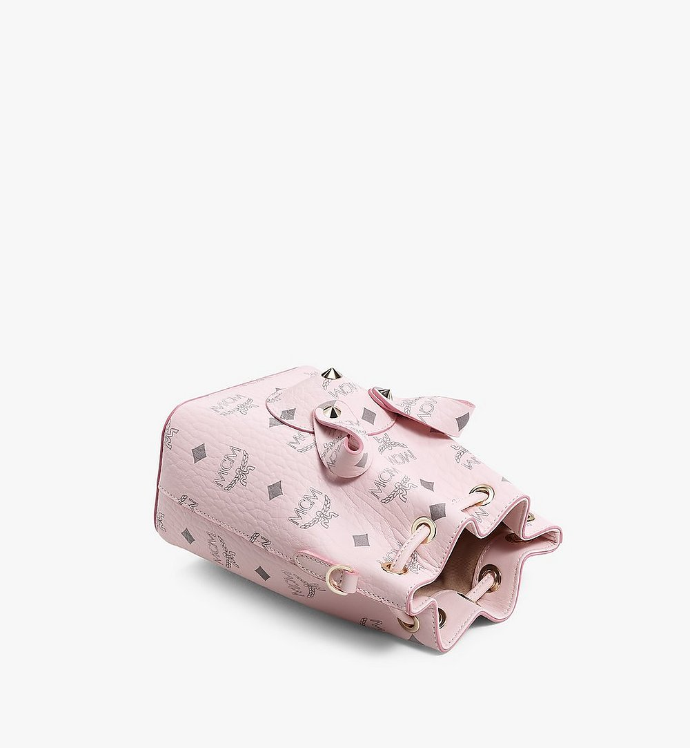 MCM MCM Zoo Rabbit Bucket Bag in Visetos Pink MWDBSXL02QH001 Alternate View 2