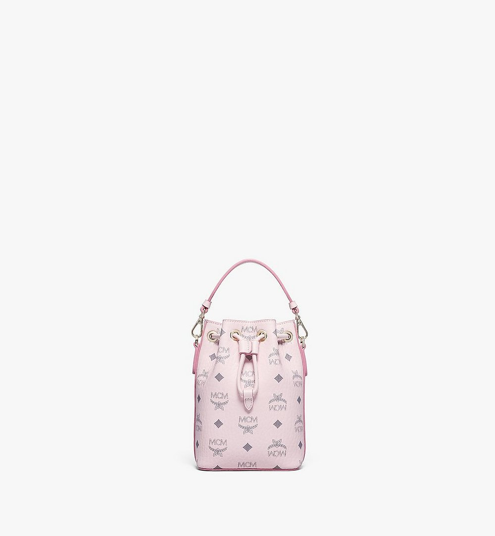 MCM MCM Zoo Rabbit Bucket Bag in Visetos Pink MWDBSXL02QH001 Alternate View 3