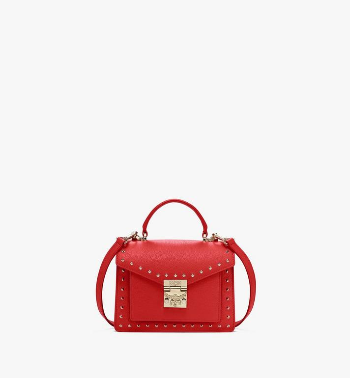MCM Patricia Satchel in Studded Park Ave Leather Alternate View