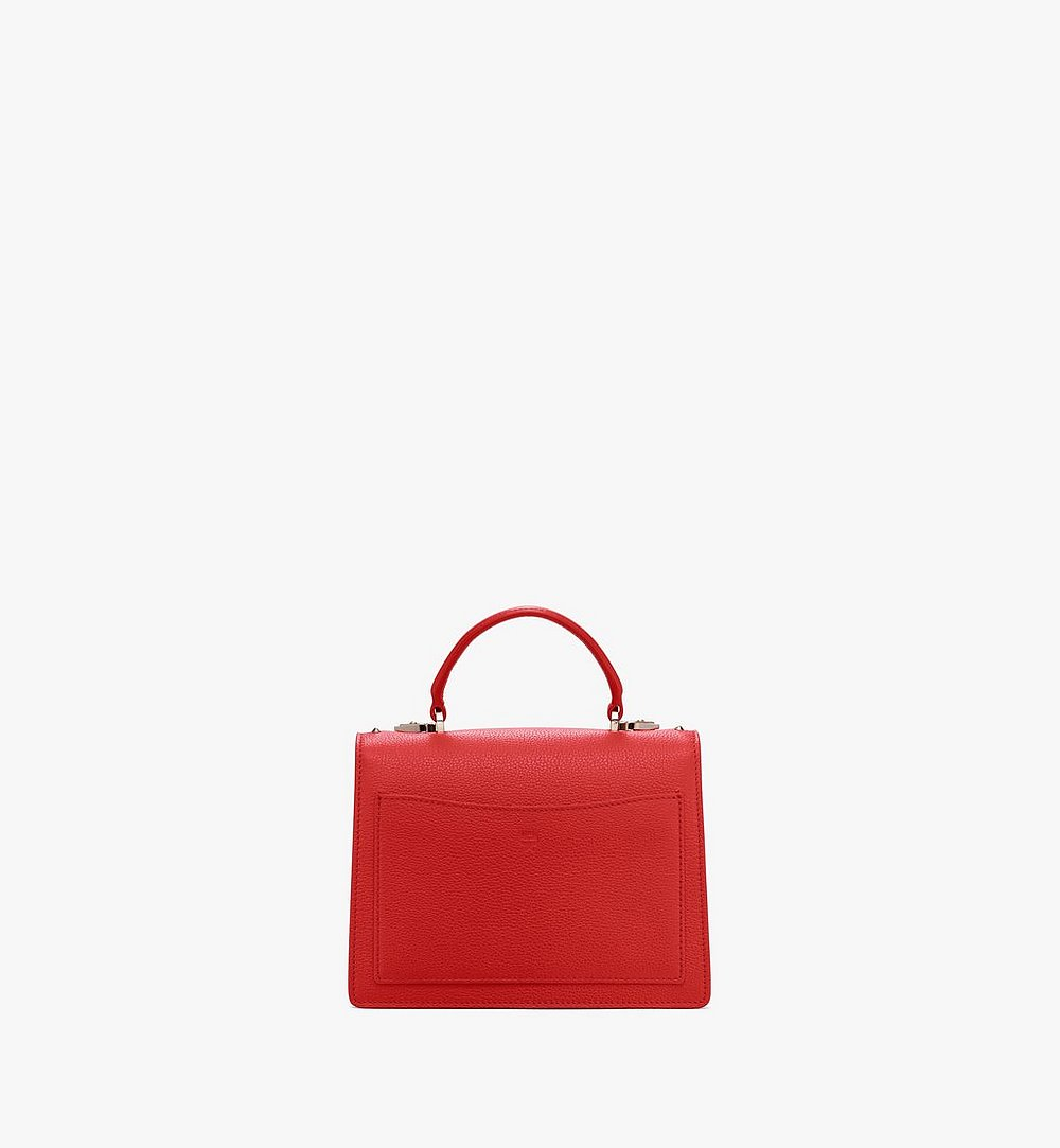 MCM Patricia Satchel in Studded Park Ave Leather Red MWE8APA51R4001 Alternate View 2