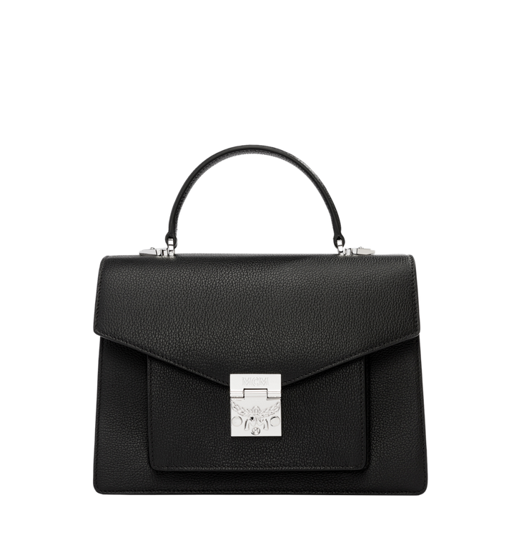 MCM Patricia Pocket Satchel in Grained Leather Alternate View