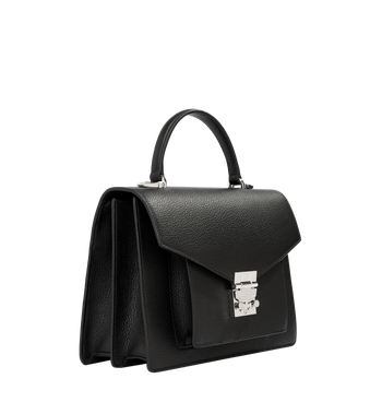 MCM Patricia Pocket Satchel in Grained Leather Alternate View 2