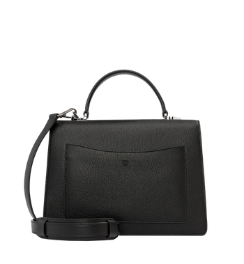 MCM Patricia Pocket Satchel in Grained Leather Alternate View 4