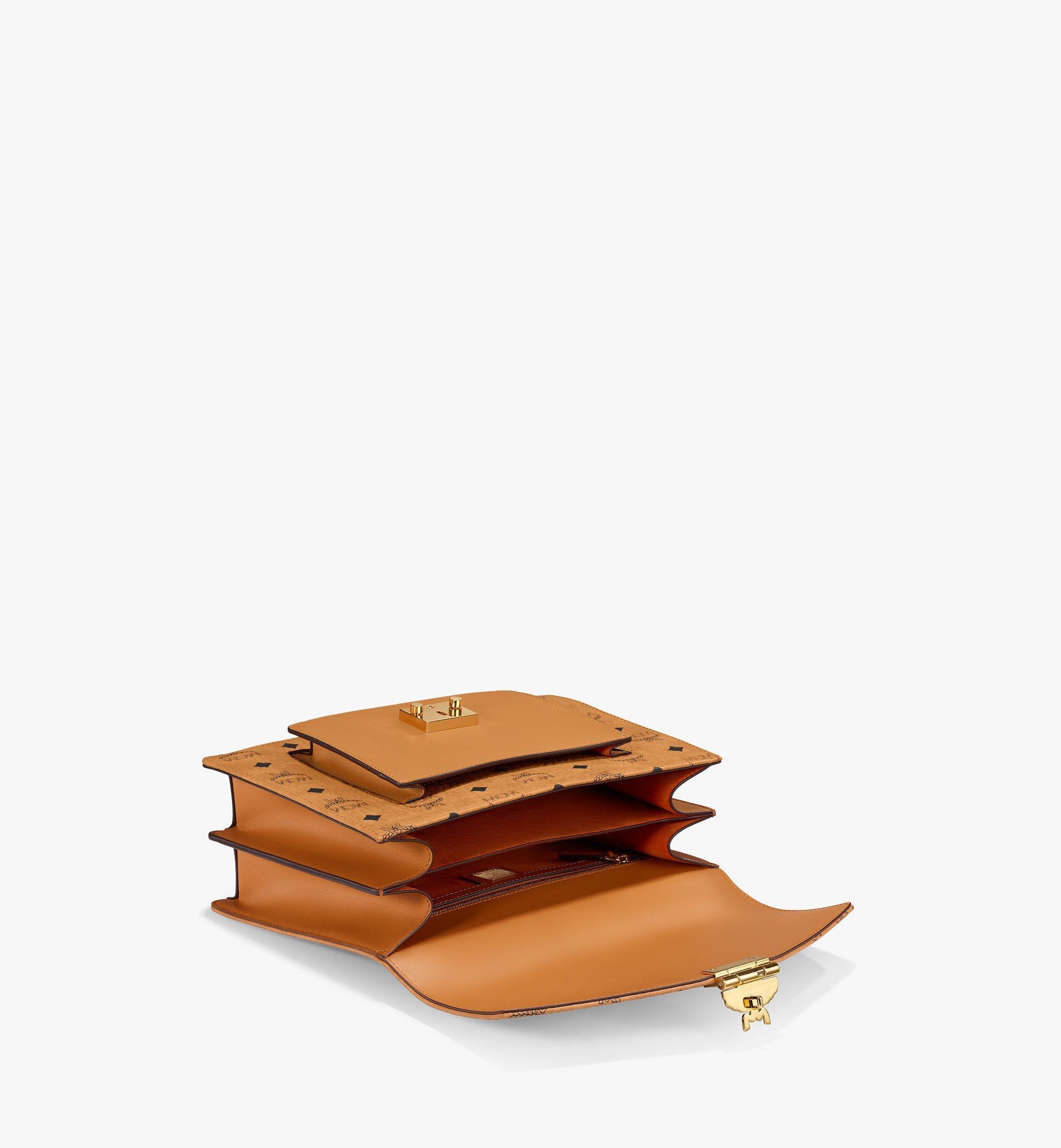 MCM Patricia Satchel-Tasche in Visetos Cognac MWE8APA67CO001 Noch mehr sehen 2