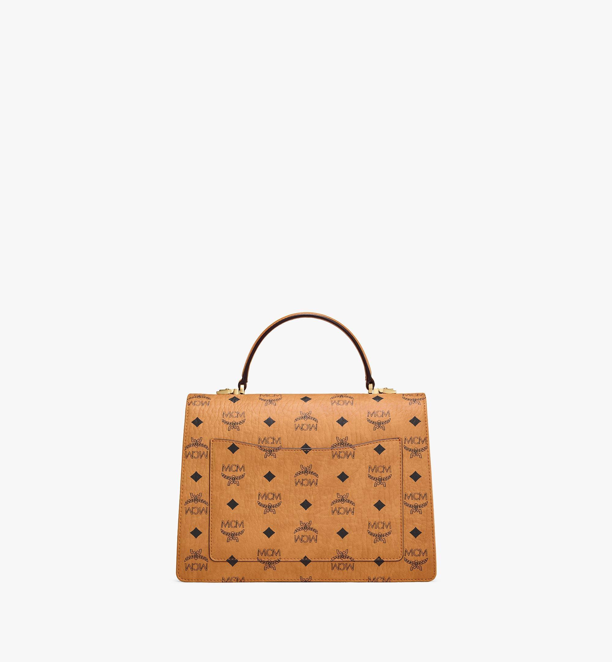 MCM Patricia Satchel-Tasche in Visetos Cognac MWE8APA67CO001 Noch mehr sehen 3