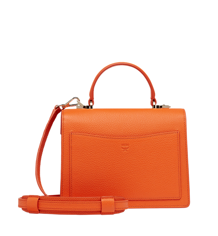 MCM Patricia Satchel in Grained Leather MWE8APA68OD001 AlternateView4