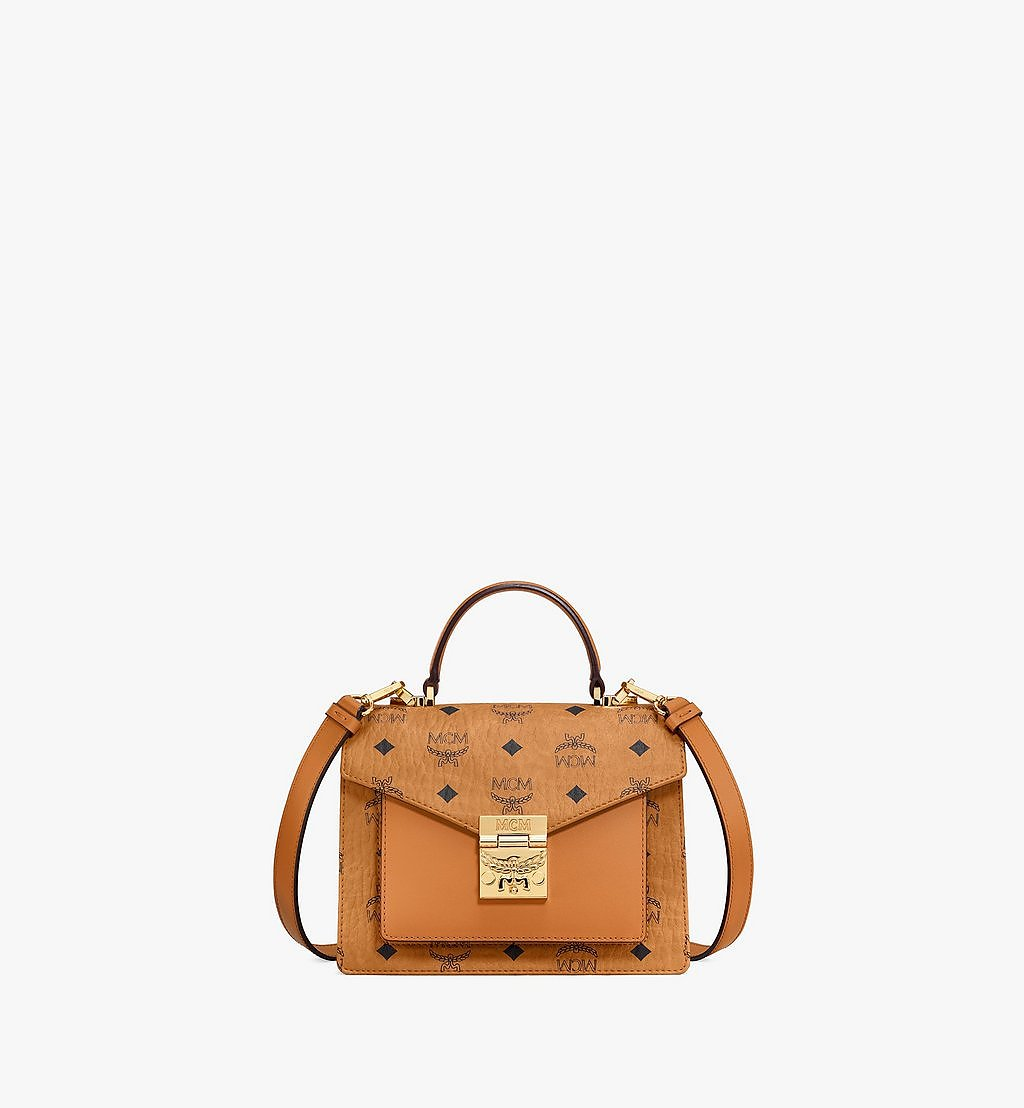 MCM Patricia Satchel-Tasche in Visetos Cognac MWE8APA69CO001 Noch mehr sehen 1