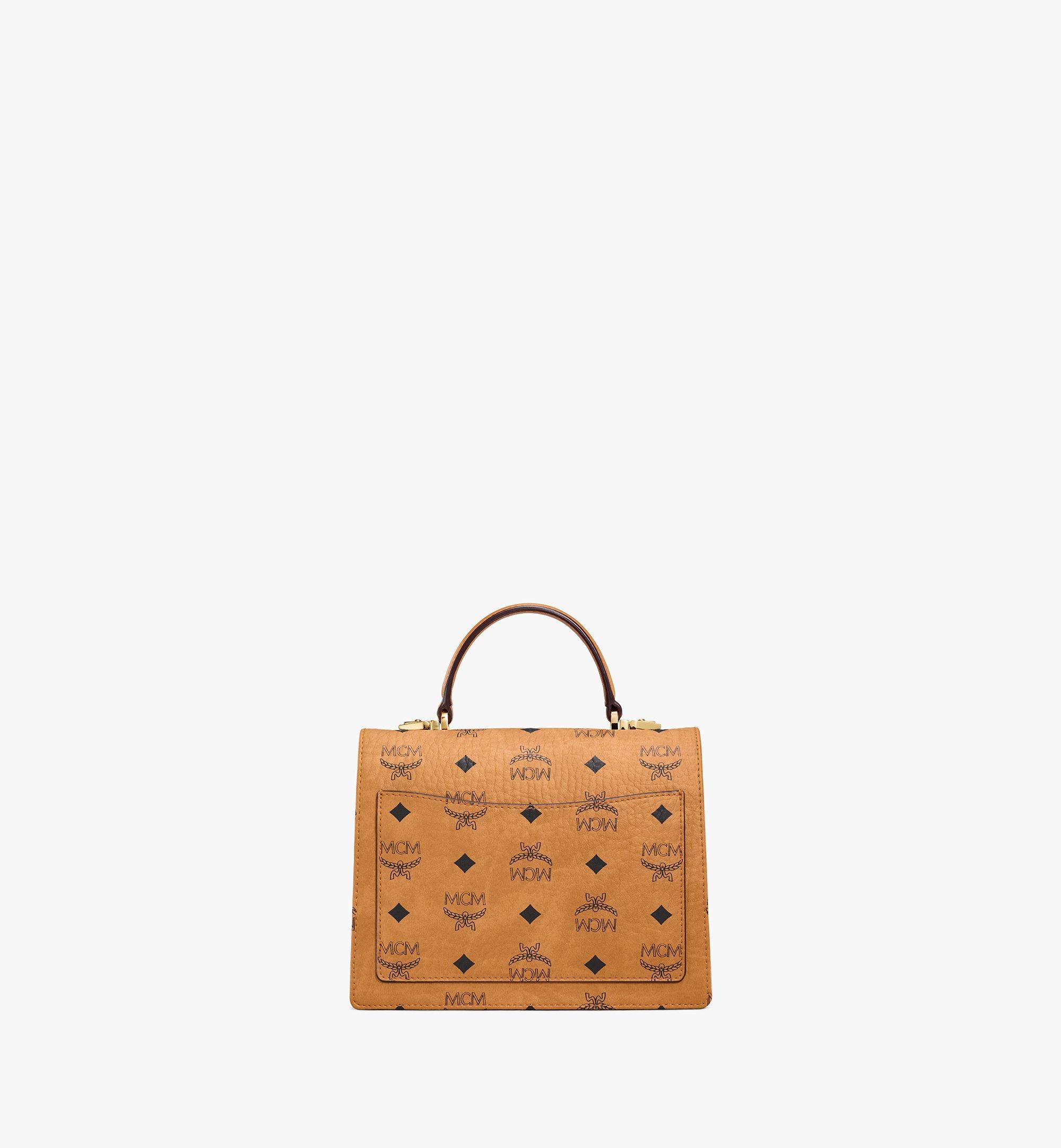MCM Patricia Satchel-Tasche in Visetos Cognac MWE8APA69CO001 Noch mehr sehen 3
