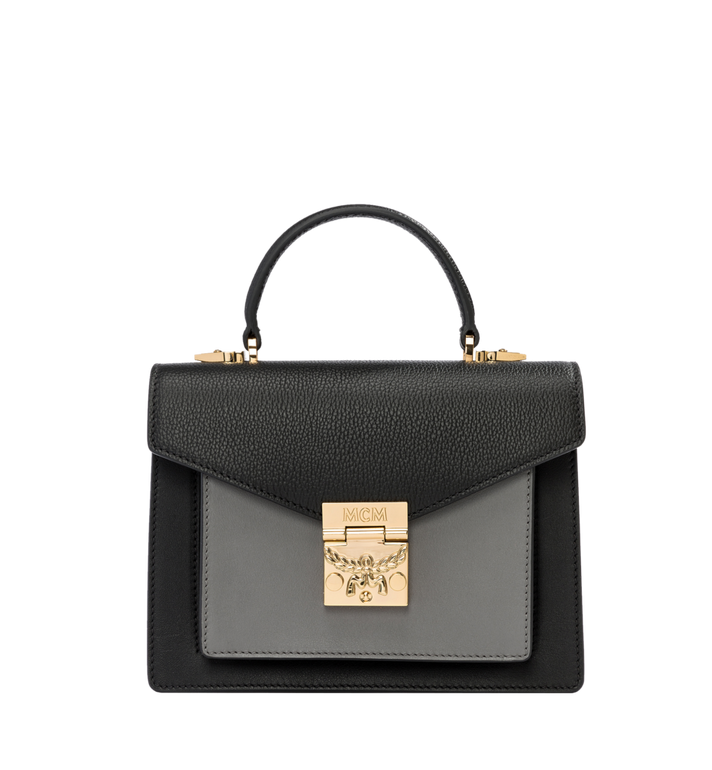 MCM Patricia Satchel in Grained Leather Alternate View