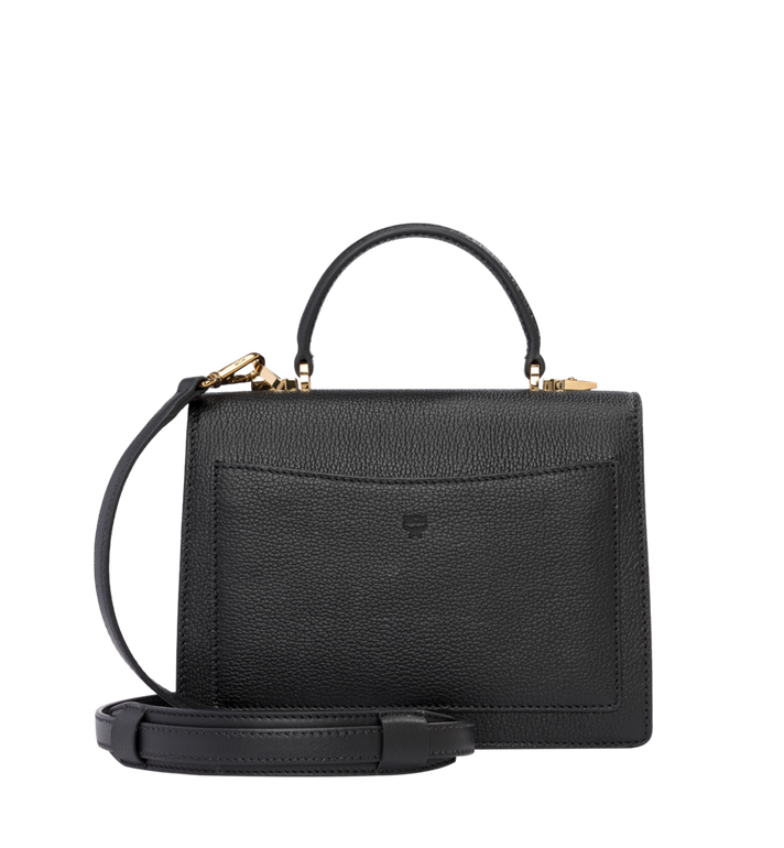 MCM Patricia Satchel in Grained Leather Alternate View 4