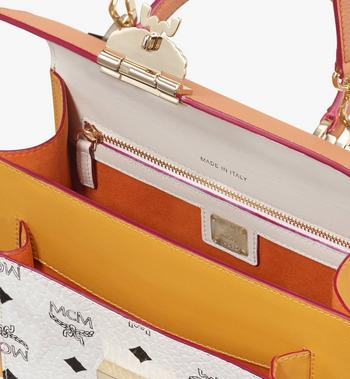 MCM Patricia Satchel in Color Block Leather Alternate View 4