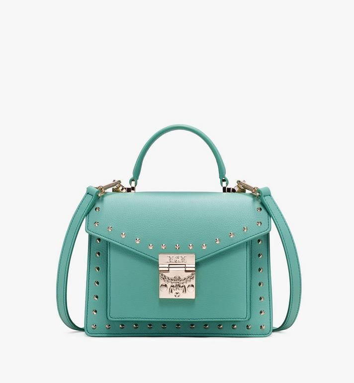 MCM Sacoche Patricia en cuir Park Avenue clouté Alternate View 1