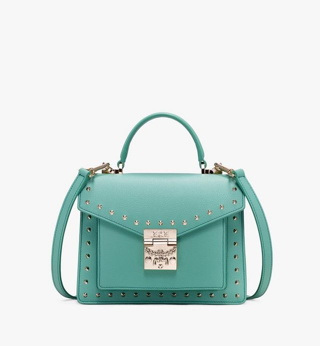 85c6492983 Patricia Satchel in Studded Park Ave Leather