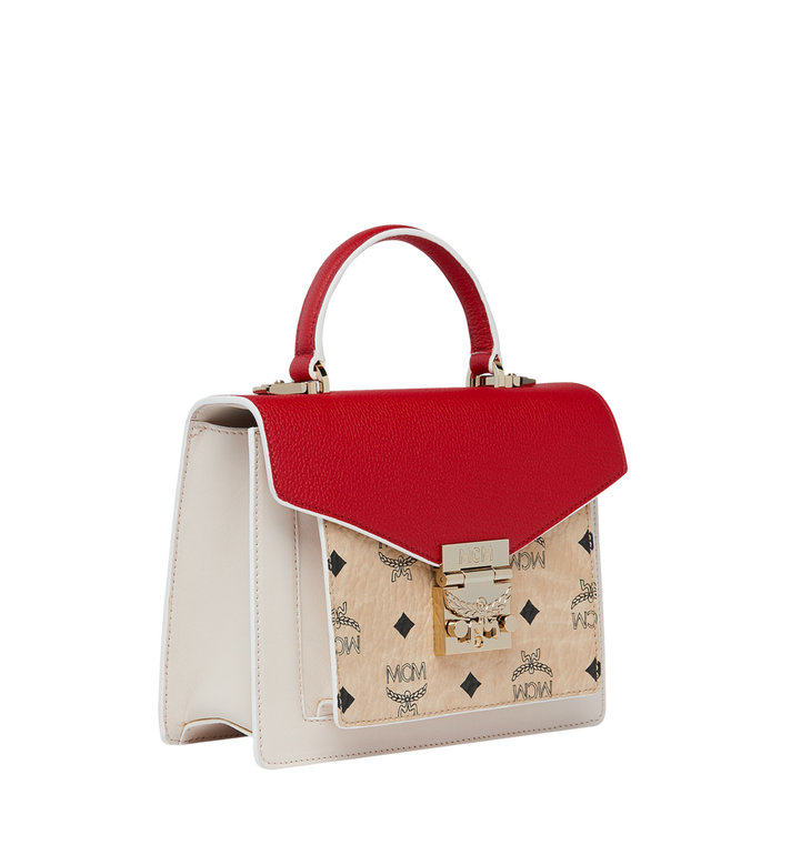 MCM Patricia Satchel in Visetos Leather Block Beige MWE9SPA26IZ001 Alternate View 2