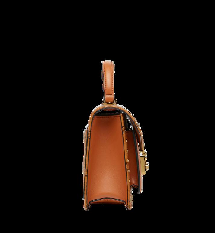 MCM 〈パトリシア〉 サッチェルバッグ スタッズアウトライン付 ヴィセトス Cognac MWE9SPA44CO001 Alternate View 3