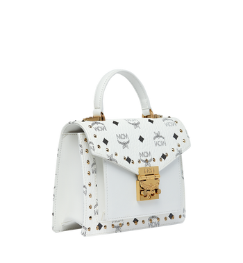 MCM Patricia Satchel in Studded Outline Visetos AlternateView2