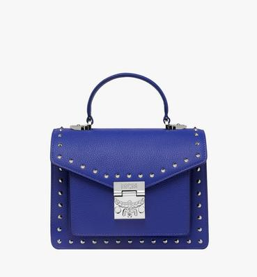Patricia Satchel in Studded Outline Leather