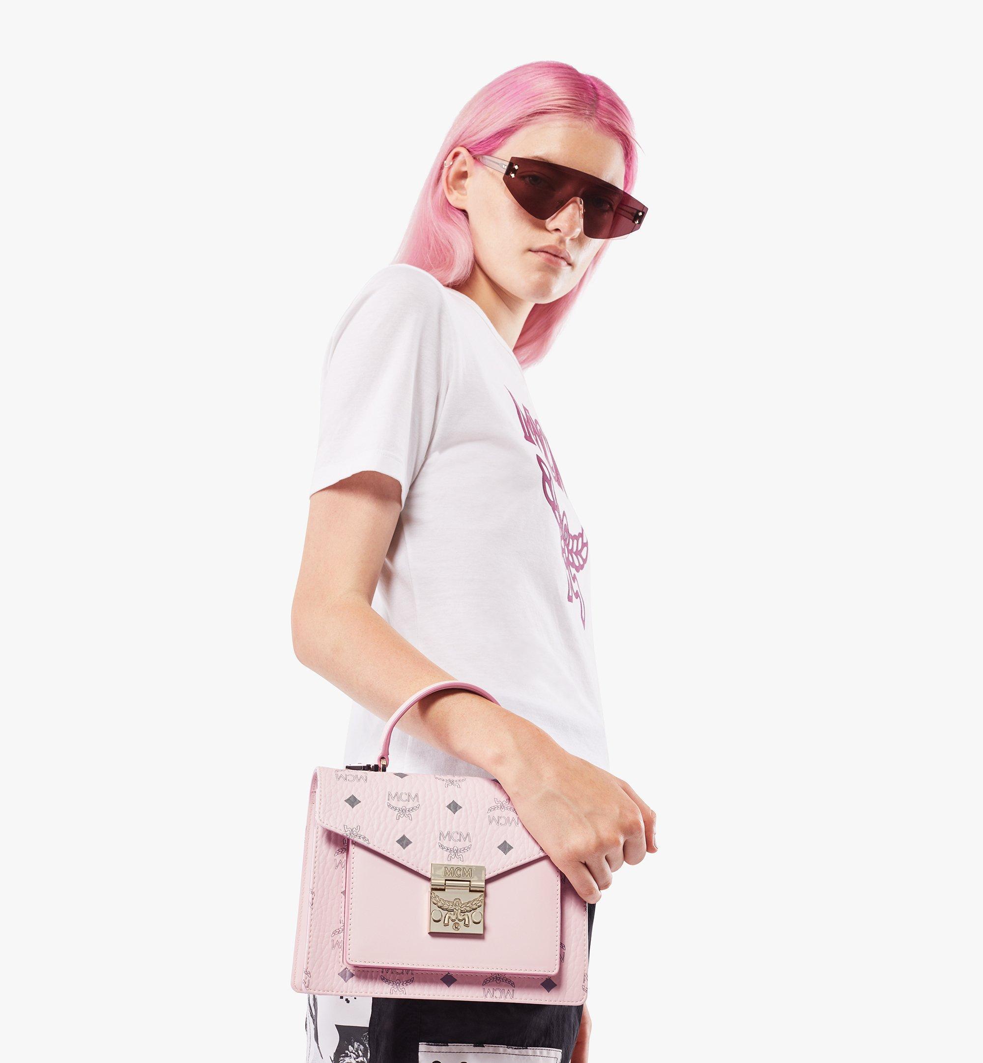MCM Patricia Satchel-Tasche in Visetos Pink MWEAAPA02QH001 Noch mehr sehen 2