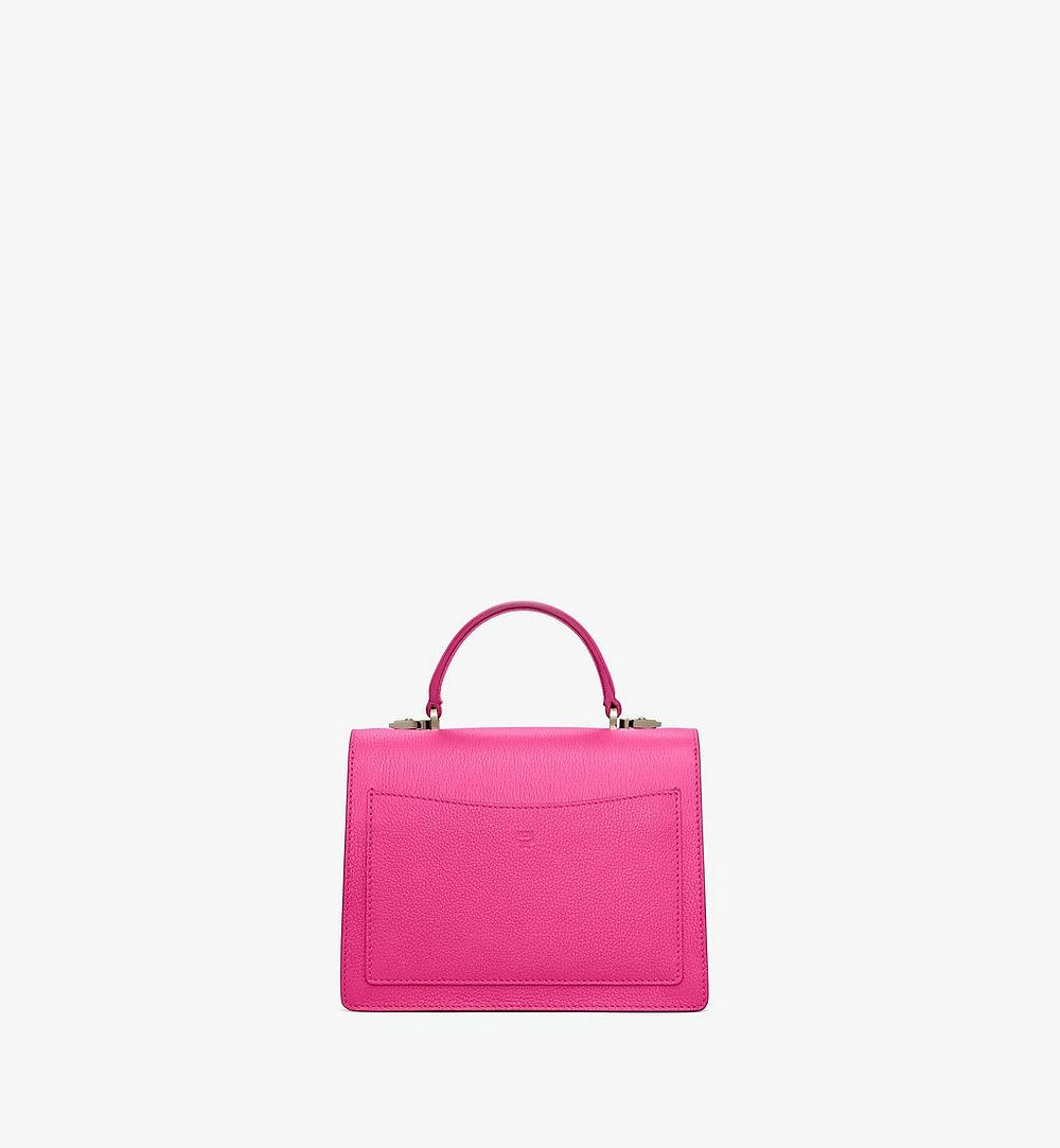 MCM Patricia Satchel in Color Block Visetos Pink MWEAAPA05QJ001 Alternate View 3
