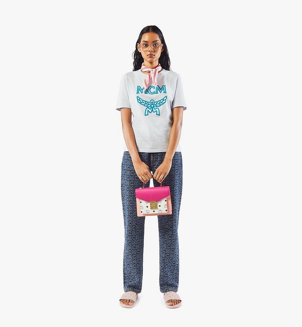 MCM Patricia Satchel in Colorblock-Visetos Pink MWEAAPA05QJ001 Noch mehr sehen 4