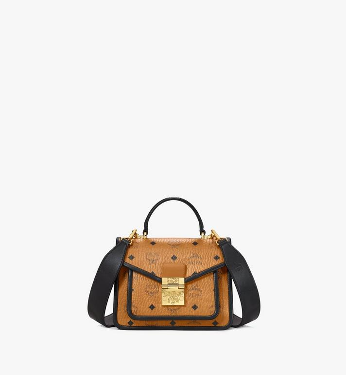 MCM Patricia Satchel in Visetos Leather Block Alternate View