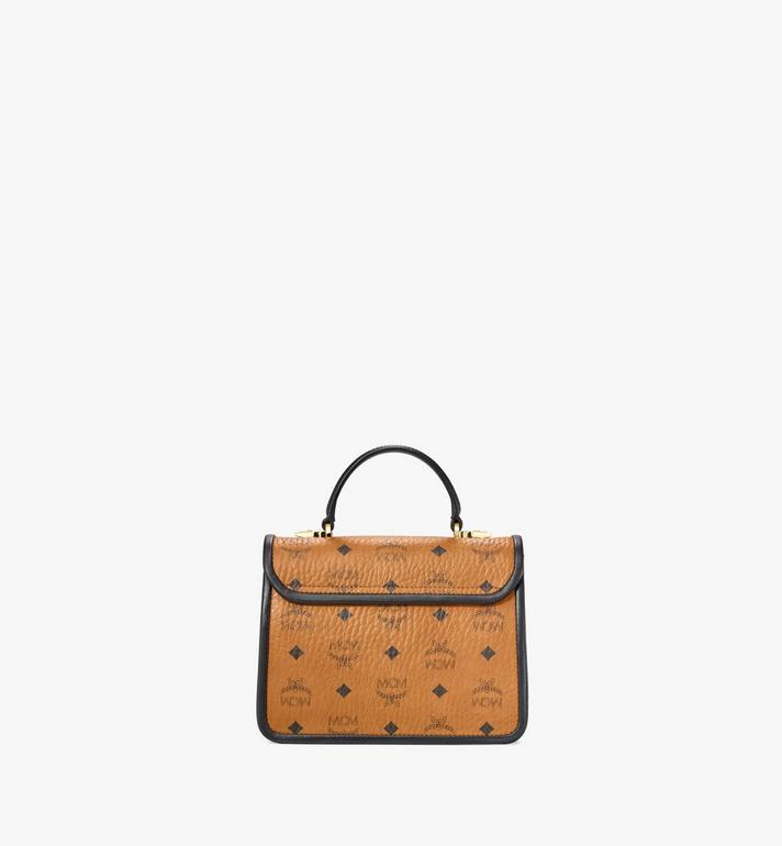 MCM Patricia Satchel in Visetos Leather Block Cognac MWEAAPA06CO001 Alternate View 4