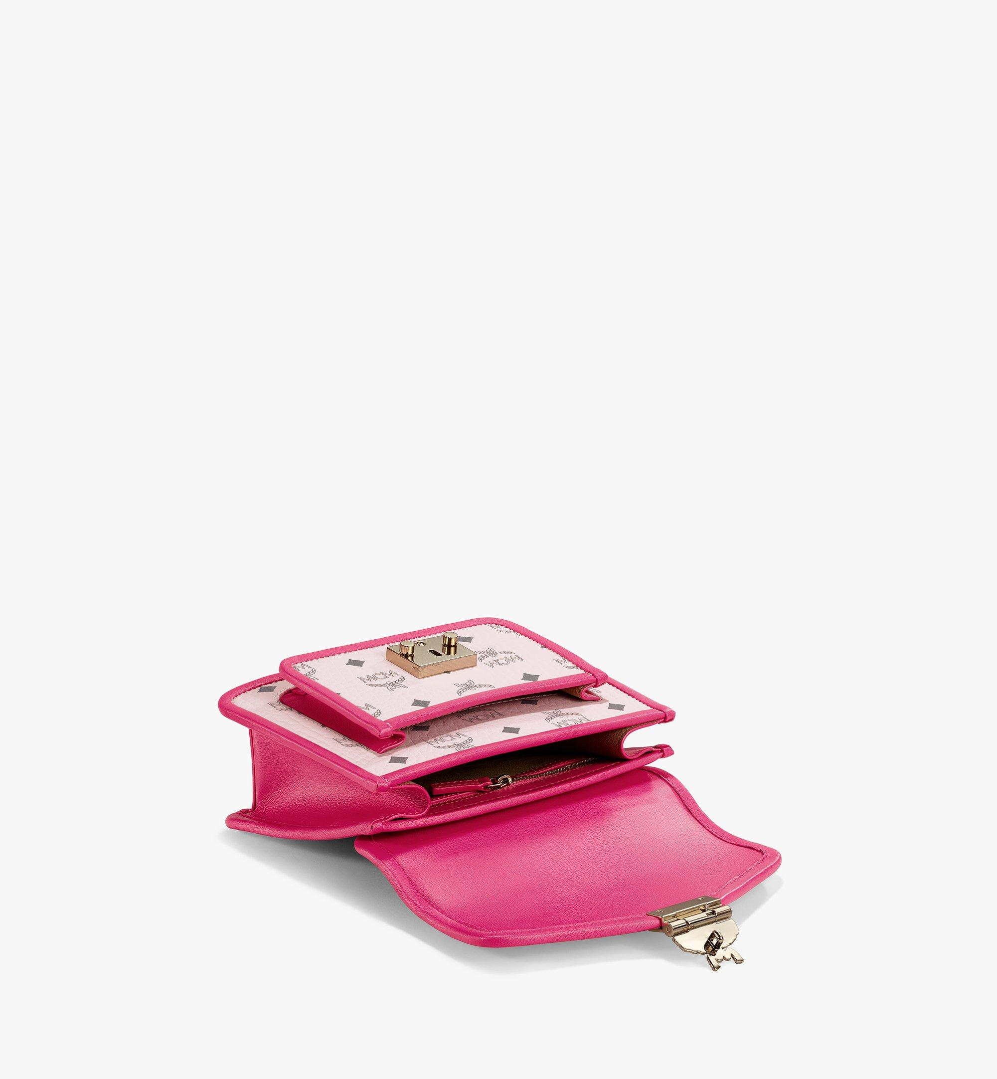 MCM Patricia Satchel in Visetos Leather Block Pink MWEAAPA06QH001 Alternate View 3