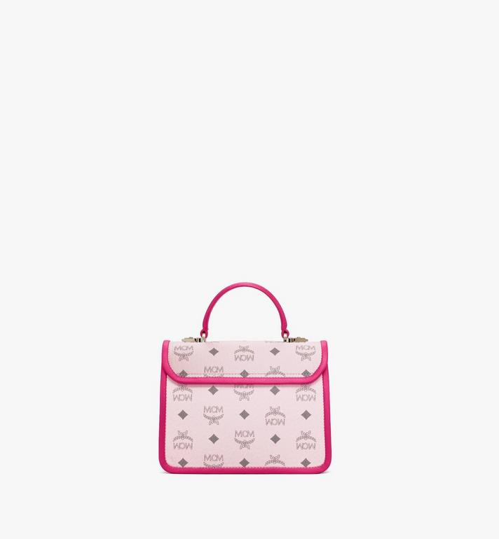 MCM Patricia Satchel in Visetos Leather Block Pink MWEAAPA06QH001 Alternate View 4