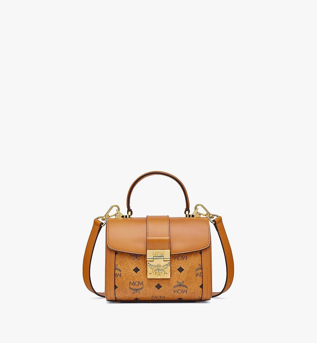 MCM Tracy Satchel in Visetos Cognac MWEBSXT02CO001 Alternate View 1