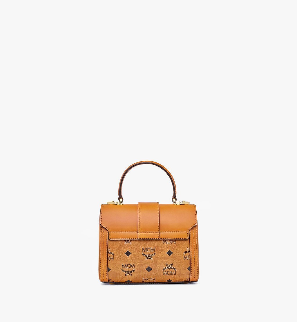 MCM Tracy Satchel in Visetos Cognac MWEBSXT02CO001 Alternate View 3