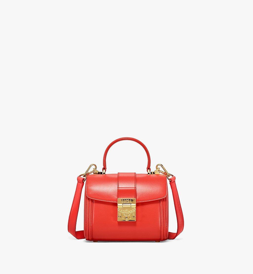 MCM Tracy Satchel-Tasche aus geprägtem spanischen Leder Red MWEBSXT03R8001 Noch mehr sehen 1