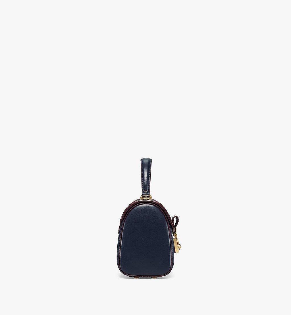 MCM Tracy Satchel-Tasche aus geprägtem spanischen Leder Blue MWEBSXT03VZ001 Noch mehr sehen 1