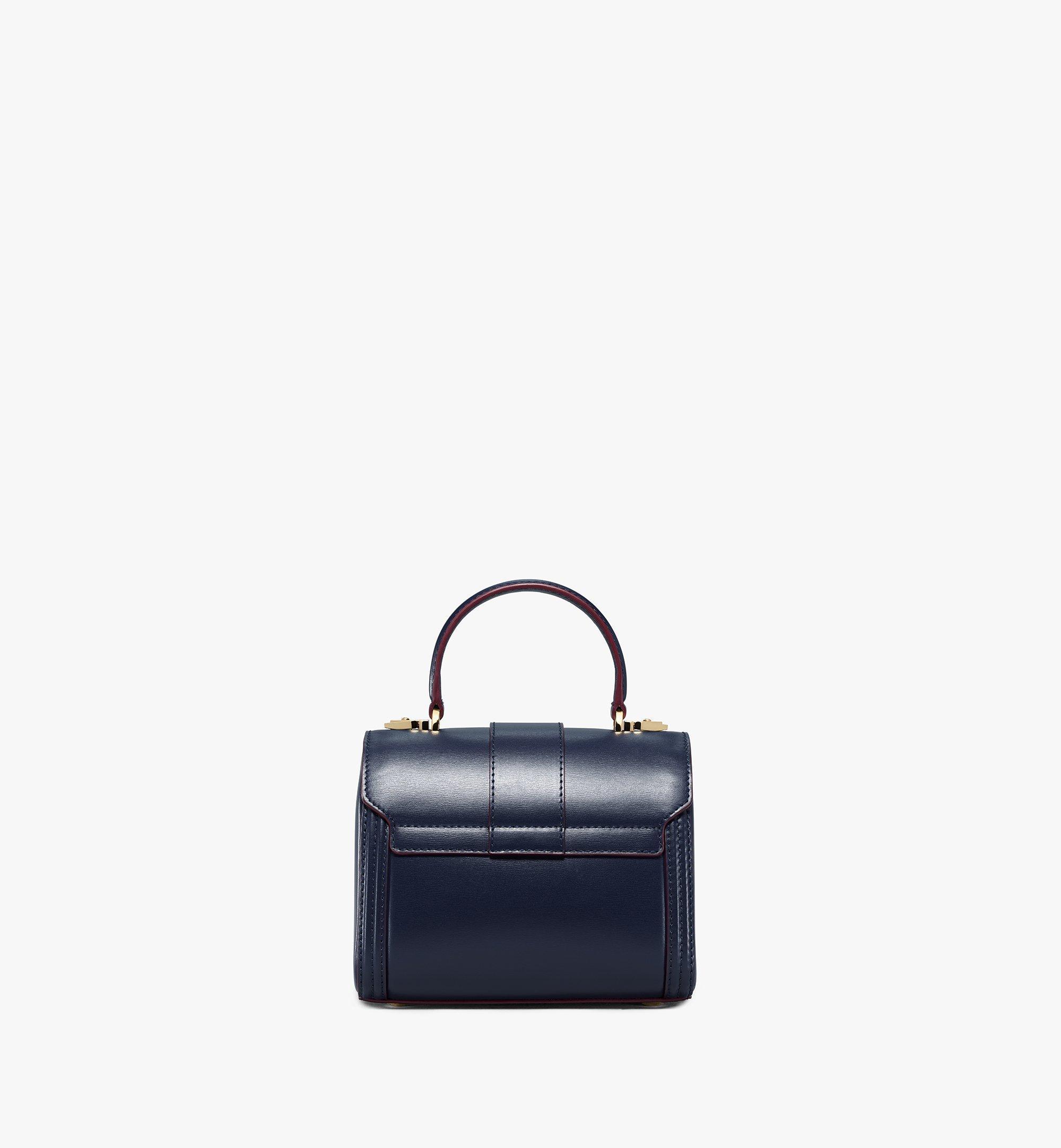 MCM Tracy Satchel-Tasche aus geprägtem spanischen Leder Blue MWEBSXT03VZ001 Noch mehr sehen 3
