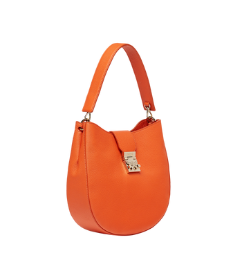 MCM Patricia Hobo in Grained Leather MWH8APA29OD001 AlternateView2