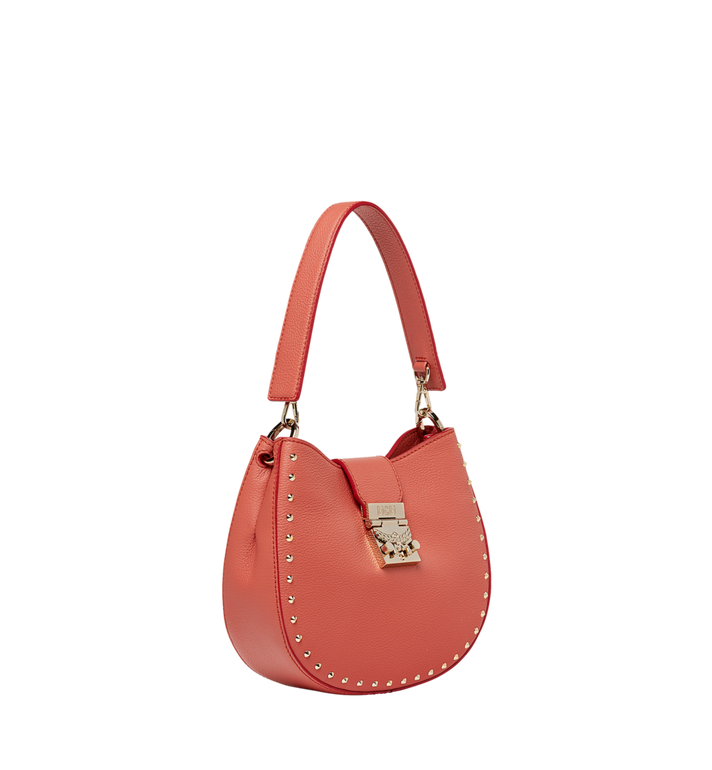 MCM Patricia Hobo in Studded Outline Leather MWH8APA48PW001 AlternateView2