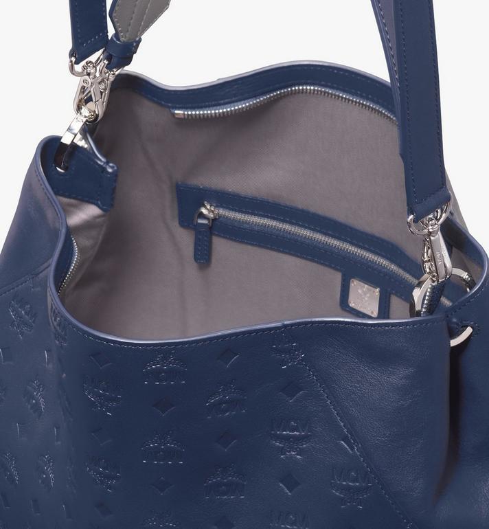MCM Klara Hobo in Monogram Leather Blue MWH9AKM75VA001 Alternate View 4