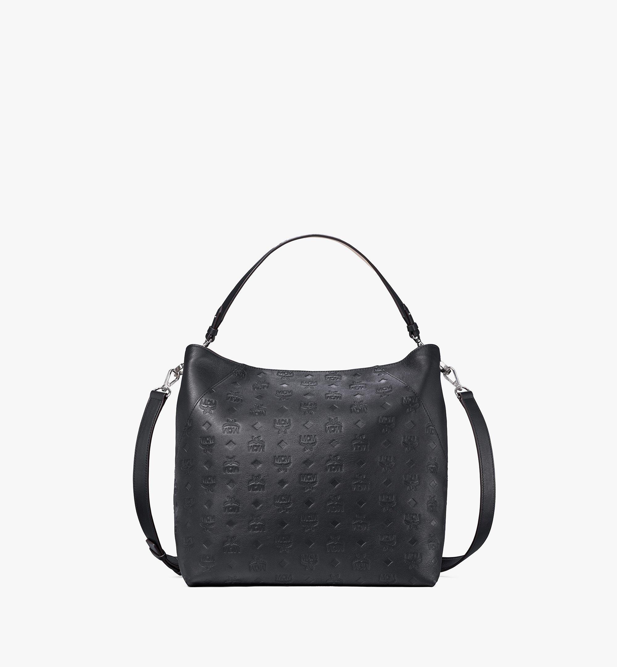 MCM Klara Hobo-Tasche aus Leder mit Monogramm Cognac MWH9SKM75BK001 Noch mehr sehen 1