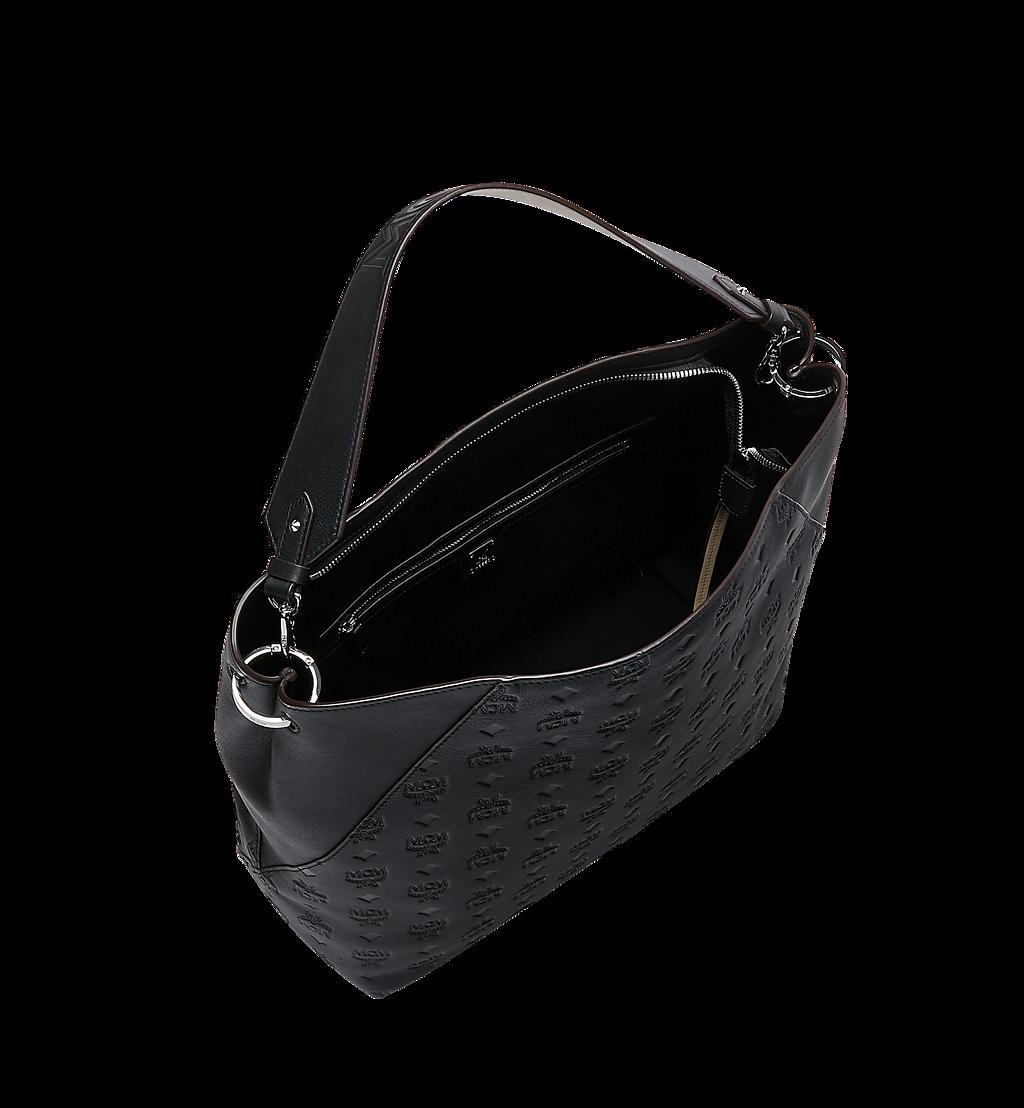 MCM Klara Hobo-Tasche aus Leder mit Monogramm Cognac MWH9SKM75BK001 Noch mehr sehen 4