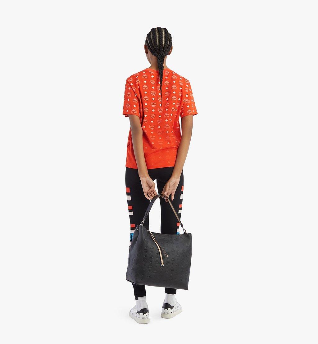MCM Klara Hobo-Tasche aus Leder mit Monogramm Cognac MWH9SKM75BK001 Noch mehr sehen 3