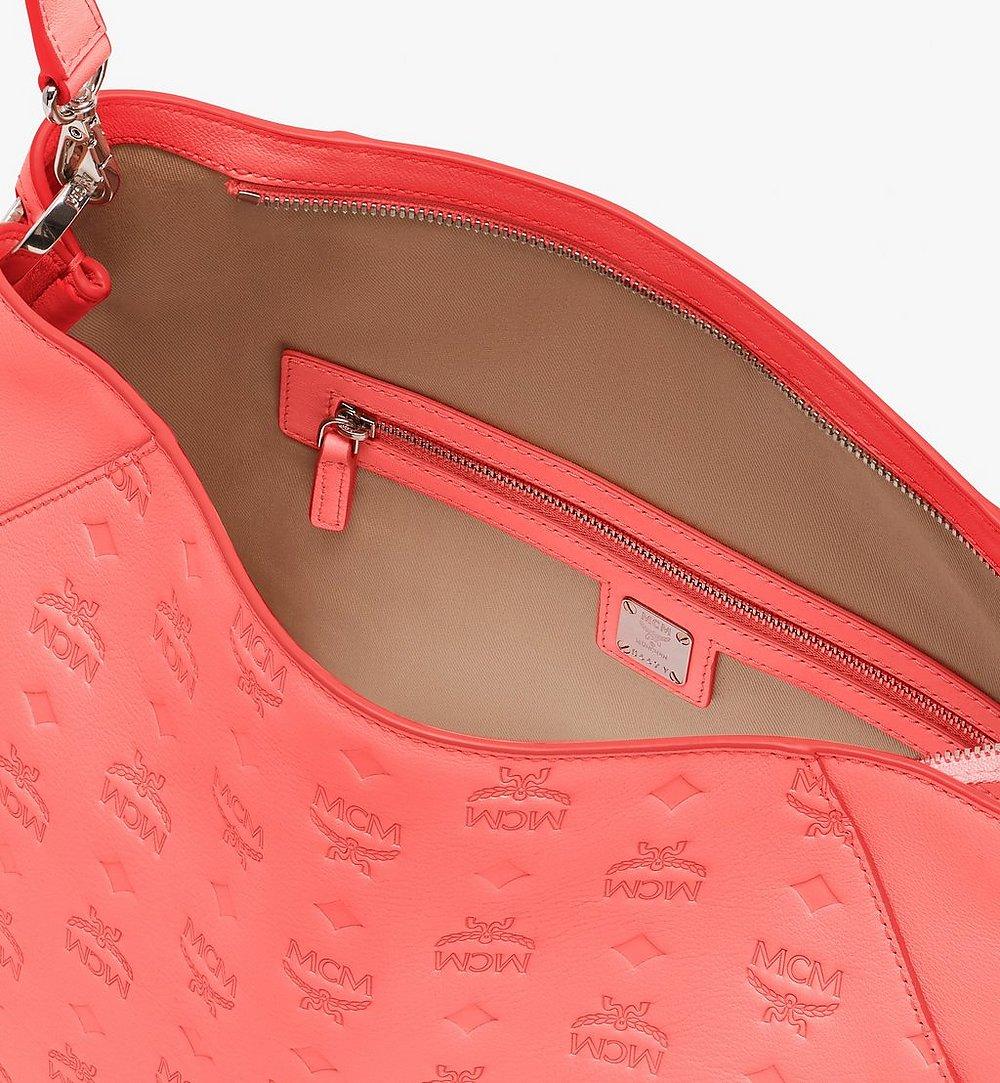 MCM Klara Hobo in Monogram Leather Red MWH9SKM76O3001 Alternate View 4