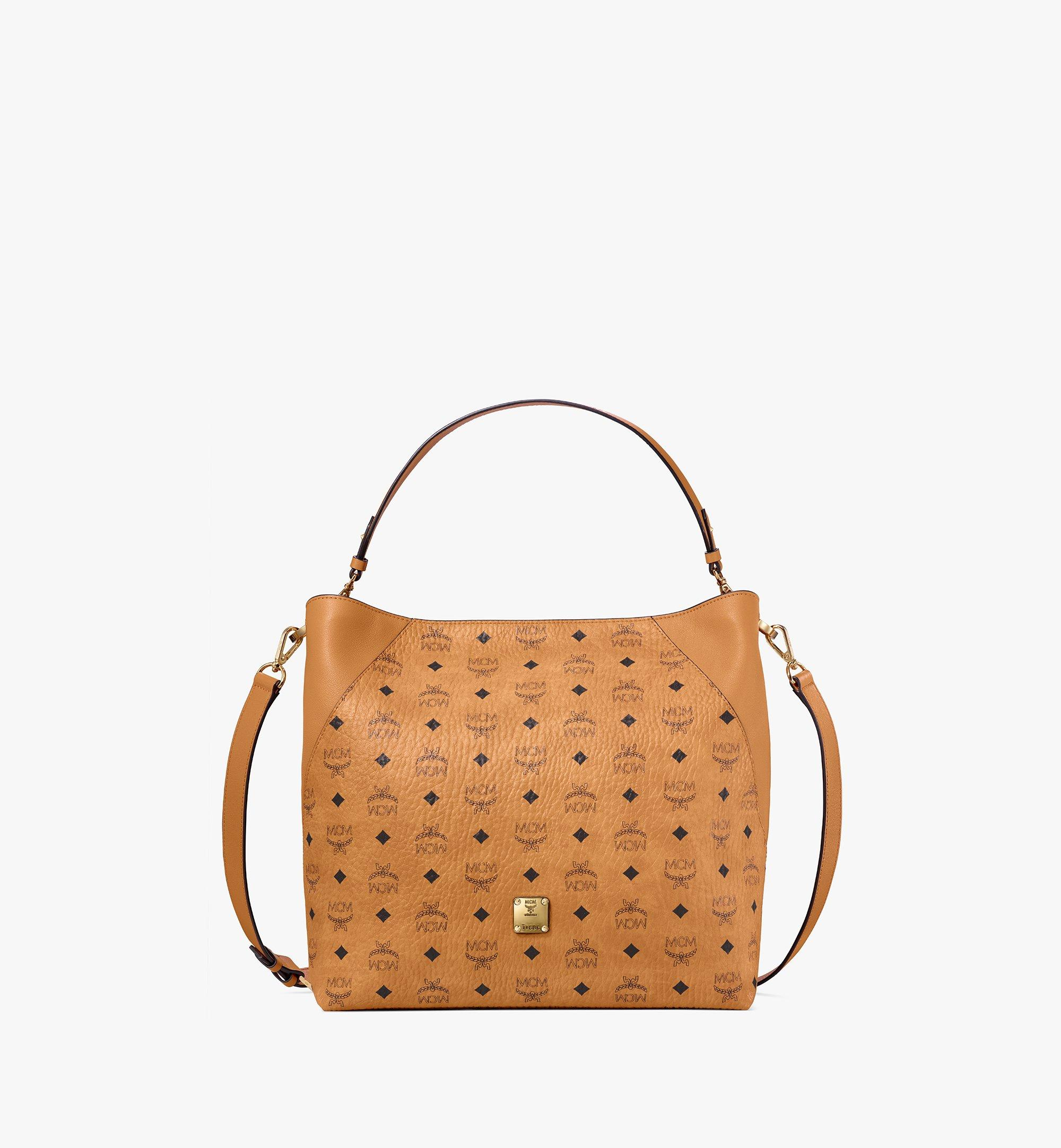 Large Klara Hobo Tasche in Visetos Cognac | MCM® DE