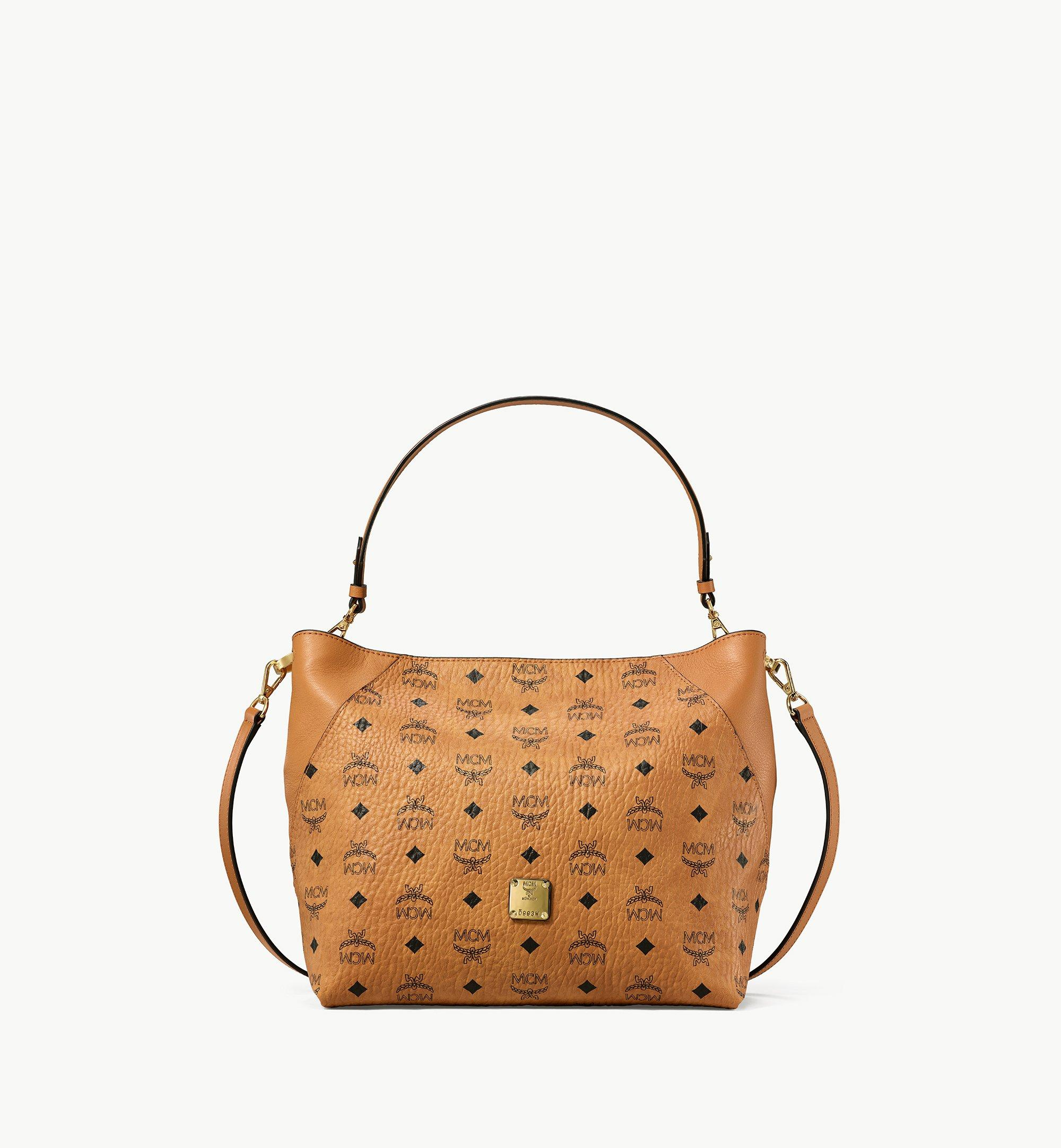 Medium Klara Hobo Tasche in Visetos Cognac | MCM® DE