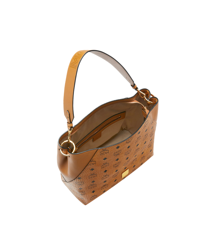 MCM Klara Hobo in Visetos Cognac MWH9SKM86CO001 Alternate View 5