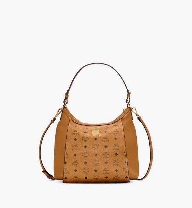 MCM Luisa Hobo in Visetos Leather Block Alternate View