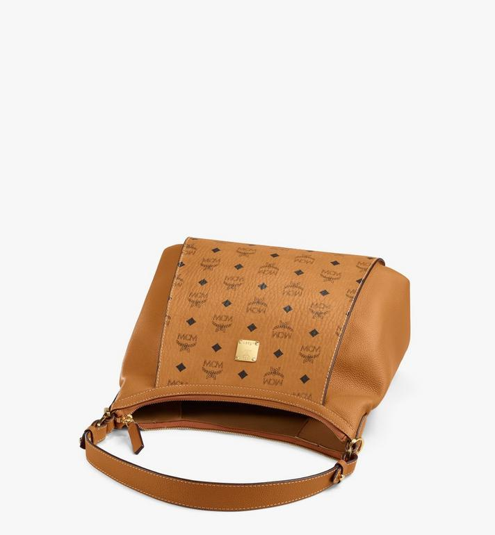 MCM Luisa Hobo in Visetos Leather Block Cognac MWHAALZ01CO001 Alternate View 3