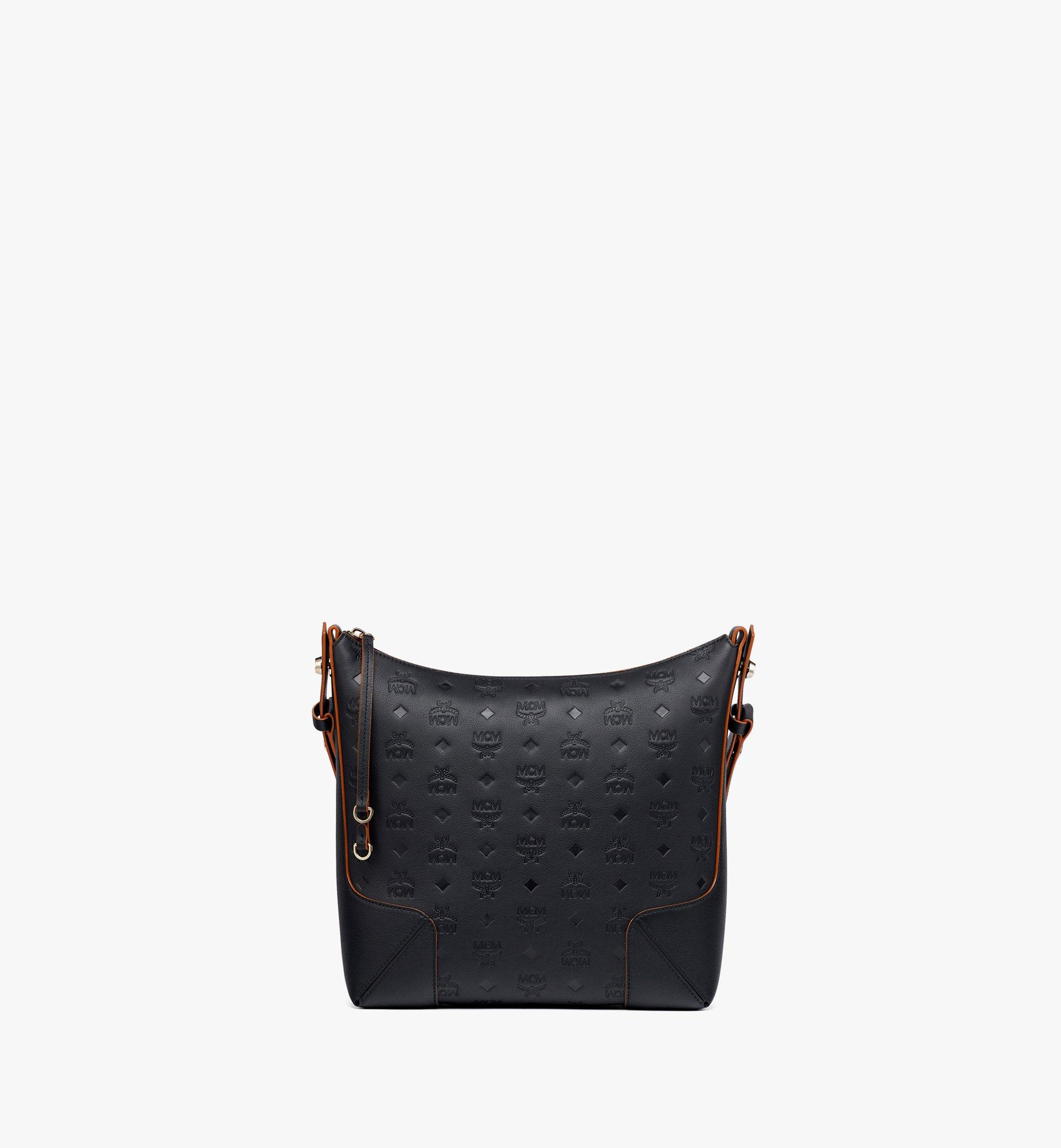 MCM Klara Hobo-Tasche aus Leder mit Monogramm Black MWHBSKM04BK001 Noch mehr sehen 1