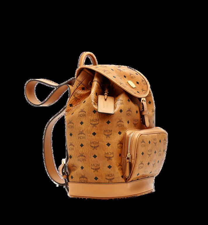 MCM Heritage Rucksack in Visetos mit einzelner Tasche Cognac MWK6AVI44CO001 Alternate View 2